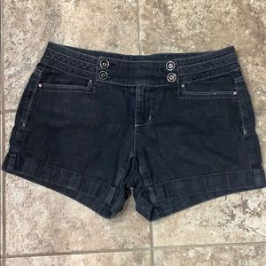 Size 4 White House | Black Market denim shorts.